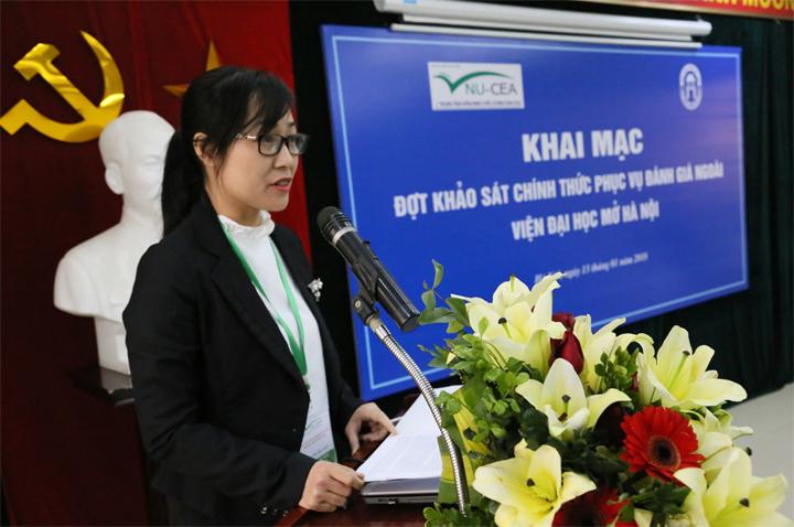 Khai mạc đợt khảo sát chính thức phục vụ Đánh giá ngoài Viện Đại học Mở Hà Nội