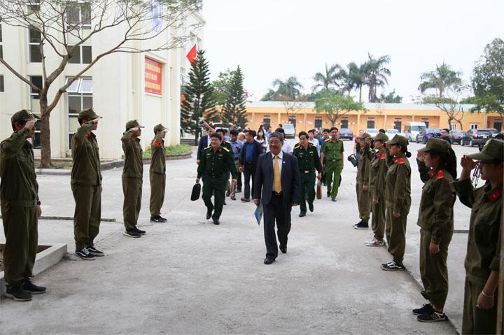 Viện Đại học Mở Hà Nội tổ chức Lễ Khai mạc Khóa I Giáo dục Quốc phòng và An ninh năm 2018